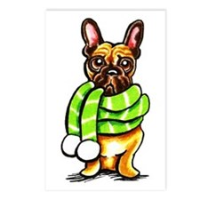 Frenchie Scarf Postcards (Package of 8)