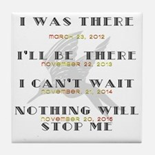 Hunger Games Movie Dates Tile Coaster