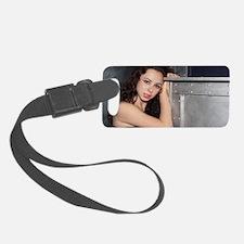 Black Dress Woman Luggage Tag