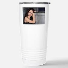 Black Dress Woman Travel Mug