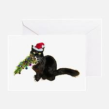 Cat Christmas Tree Greeting Card