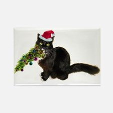 Cat Christmas Tree Rectangle Magnet