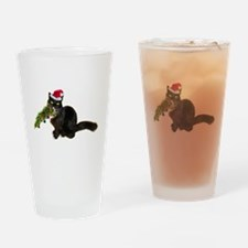 Cat Christmas Tree Drinking Glass