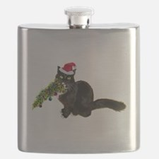 Cat Christmas Tree Flask