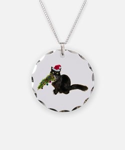 Cat Christmas Tree Necklace