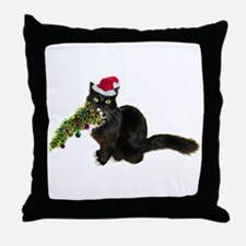 Cat Christmas Tree Throw Pillow