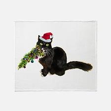 Cat Christmas Tree Throw Blanket