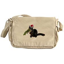 Cat Christmas Tree Messenger Bag