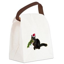 Cat Christmas Tree Canvas Lunch Bag