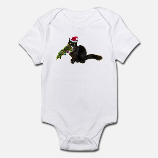 Cat Christmas Tree Infant Bodysuit