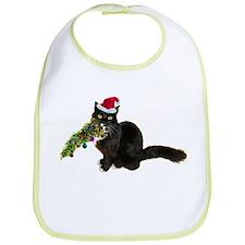 Cat Christmas Tree Bib