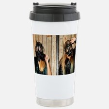Women with gasmasks Stainless Steel Travel Mug