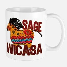 Wicasa the Sage Totem Pony Mugs