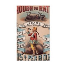Vintage Rough on Rats Poison Decal