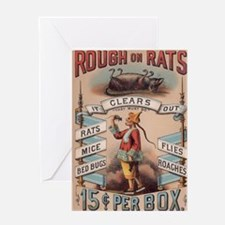 Vintage Rough on Rats Poison Greeting Card