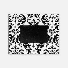 Black and White Modern Damask DESIGN Picture Frame