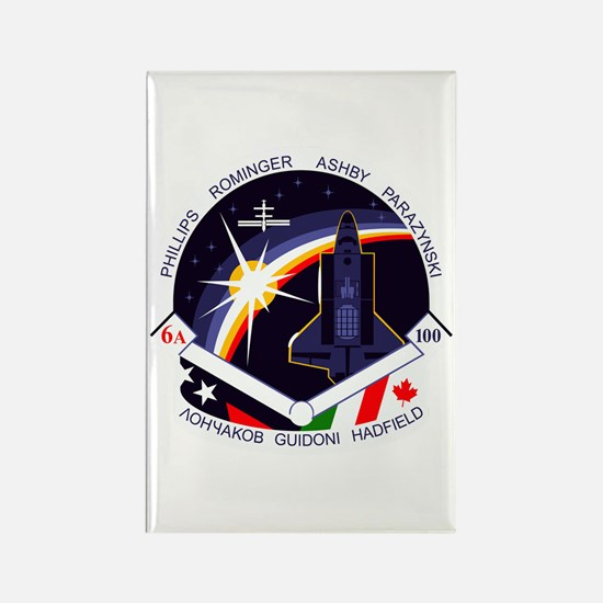 STS-100 Endeavour Rectangle Magnet