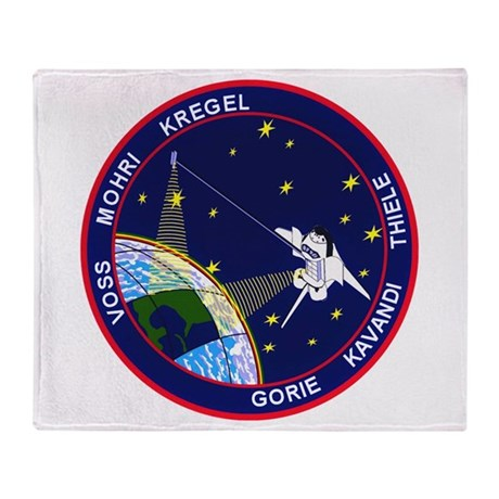 STS-99 Endeavour Throw Blanket