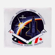 STS-100 Endeavour Throw Blanket