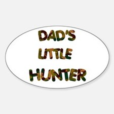 Dads Little Hunter Oval Decal
