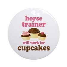 Funny Horse Trainer Ornament (Round)