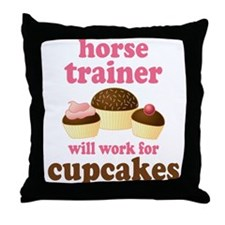 Funny Horse Trainer Throw Pillow