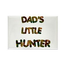 Dads Little Hunter Rectangle Magnet (10 pack)