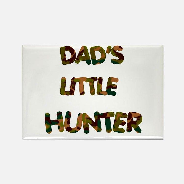 Dads Little Hunter Rectangle Magnet (10 pack)