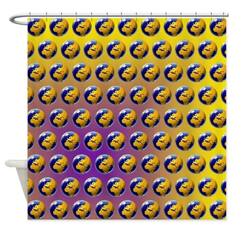 Earth Pattern Shower Curtain By LinceAzul