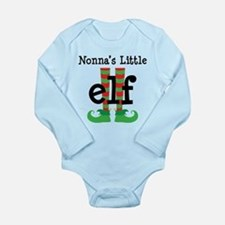 Nonnas's Little Elf Long Sleeve Infant Bodysuit