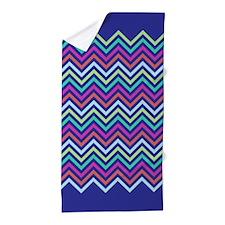 Colorful Zig zag pattern Beach Towel