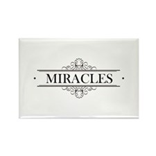 Miracles in Calligraphy Rectangle Magnet