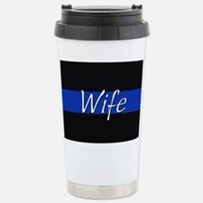 Thin Blue Line Wife Travel Mug