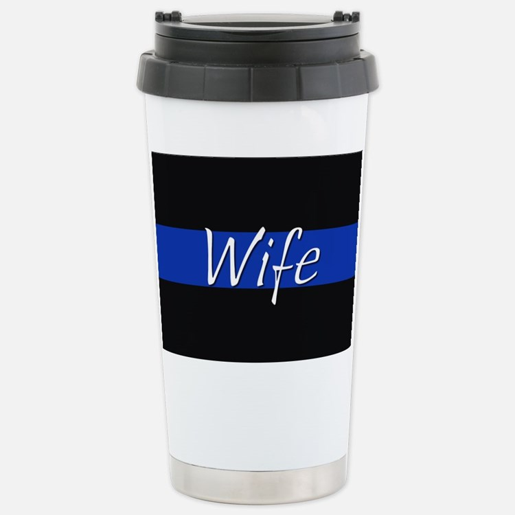 Thin Blue Line Wife Travel Mug