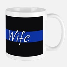 Thin Blue Line Wife Mugs