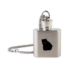 Home State - Georgia Flask Necklace