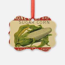 Vintage Label Art, Sugar Corn Ornament