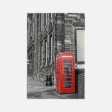 Edinburgh Phone Box Rectangle Magnet