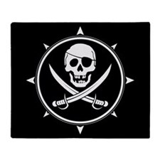 Pirate Logo Throw Blanket