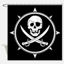 Pirate Logo Shower Curtain