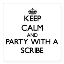 Keep Calm and Party With a Scribe Square Car Magne