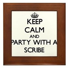 Keep Calm and Party With a Scribe Framed Tile
