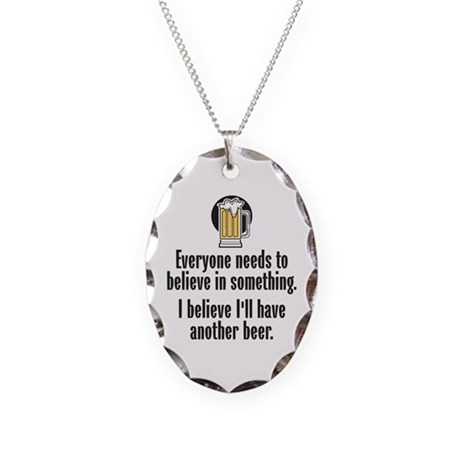 Beer Believe - Necklace Oval Charm