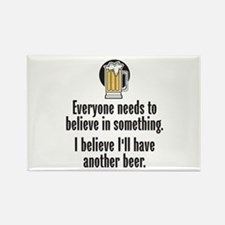 Beer Believe - Rectangle Magnet