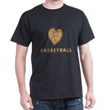 Heart Basketball Dark T-Shirt