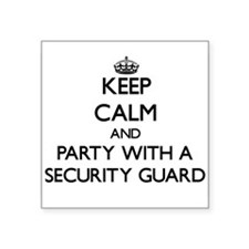 Keep Calm and Party With a Security Guard Sticker
