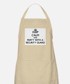 Keep Calm and Party With a Security Guard Apron