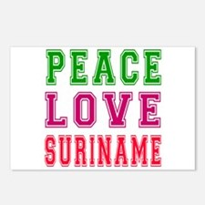 Peace Love Suriname Postcards (Package of 8)