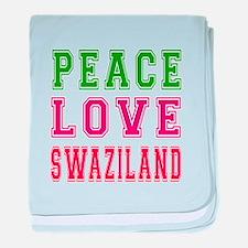 Peace Love Swaziland baby blanket