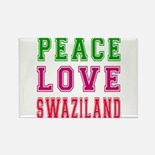 Peace Love Swaziland Rectangle Magnet